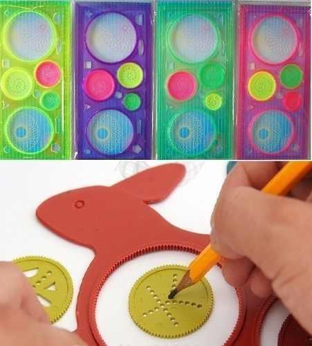 Игрушка спирограф - линейка для рисования узоров