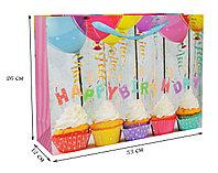 Подарочный пакет Happy Birthday 33x12x26 (средний)