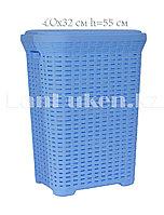 Корзина плетеная для белья 40х32х55 см 45 л 05006 голубая