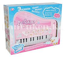 Детское пианино с 3 режимами розовое 9013