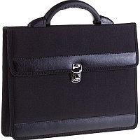"""Портфель OfficeSpace """"Pelso"""" ткань, черный, 2 отделения, метал. замок, фото 1"""