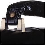"""Портфель Delucci """"Гиперион"""" кожа, черный, 2 отделения, метал. замок, с ремнем, фото 3"""