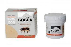 «Секрет бобра» с продукцией пчеловодства для легких (30 капсул, по 0,5 г.)