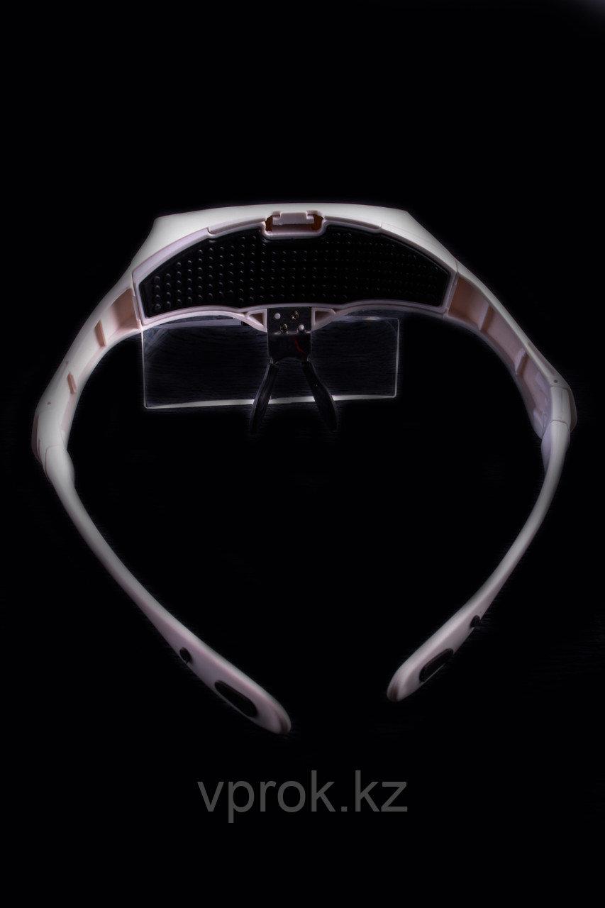 Лупа - очки с подсветкой со сменными линзами - фото 5