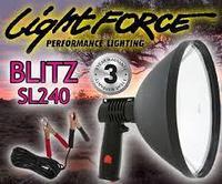 Фонарь-прожектор LIGHTFORCE BLITZ-SL-240 (12V) 1.000.000cd (дальность: 1.000м-1 Lux), контакты: зажимы R 34904