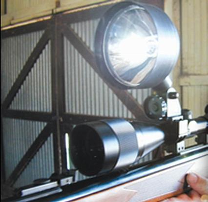 Фонарь-прожектор LIGHTFORCE PREDATOR-SM (12V) 40.500cd (лампа-GL09: 30W) R34919