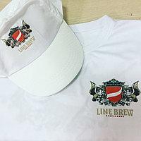 Нанесение логотипа на футболку, бейсболку