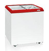 Морозильный ларь БИРЮСА H200Z (794*755*632 мм) прямая стеклянная крышка красная рамка