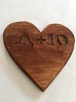 Сердце из массива дерева, фото 1