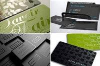 УФ (UV) печать визиток на дизайнерской бумаге или пластике