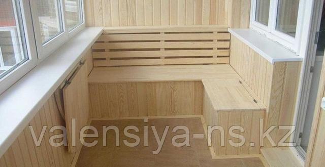 ремонт застекленного балкона в Астане