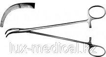 Зажим для желчных протоков изогнутый, 190 мм