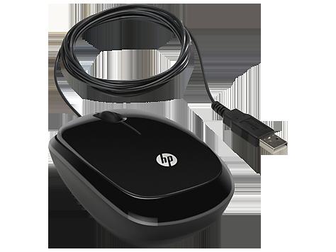 HP (H6E99AA Оптическая светодиодная проводная мышь X1200 Wired Black, USB