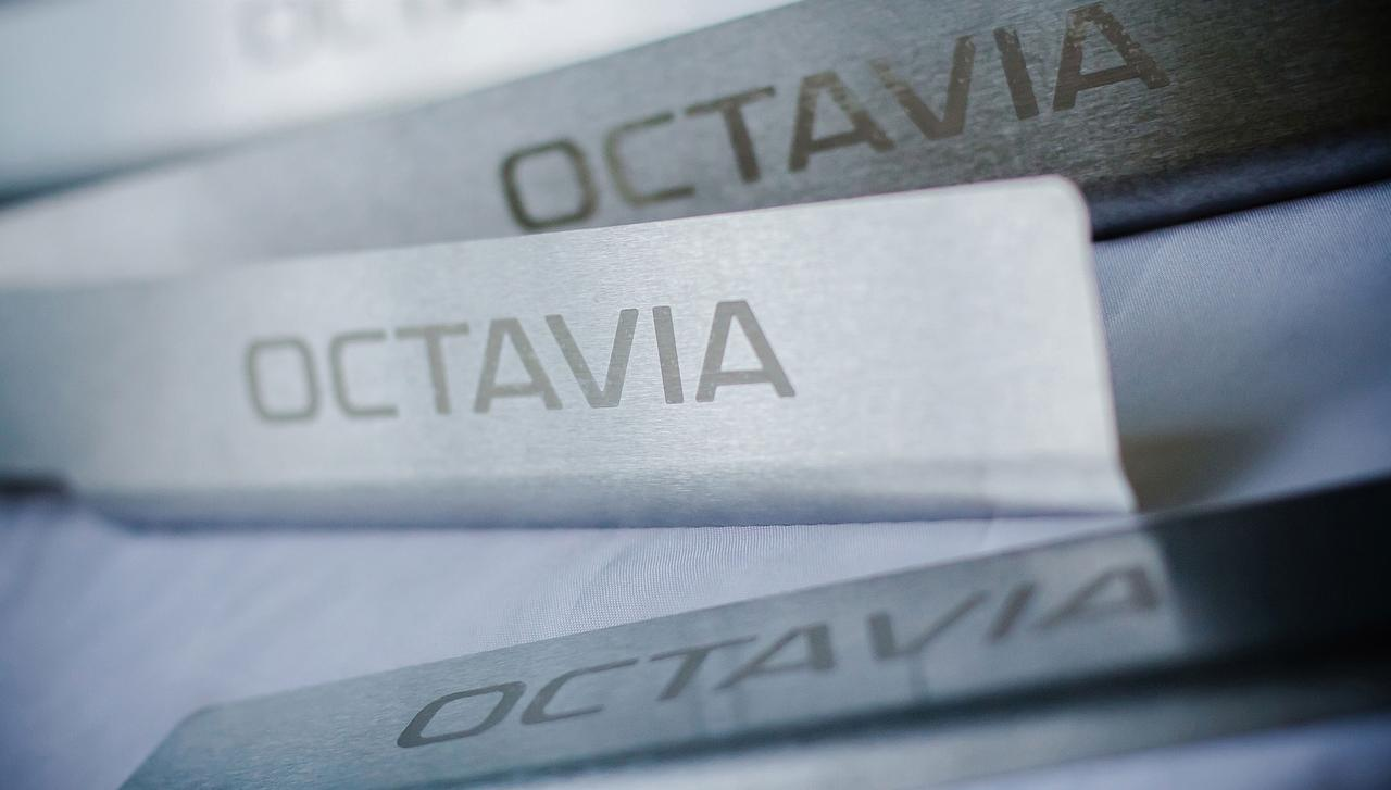 Накладки на пороги для Octavia А5 FL
