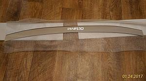 Накладка на задний бампер Octavia A5 combi (универсал)