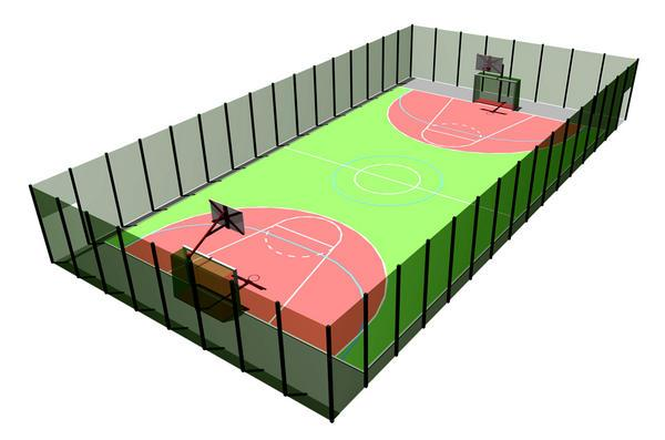 Ограждения 3d для спортивных площадок (h =  3500 мм)