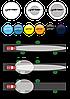 Светофильтр LIGHTFORCE (240мм) (синий)  R34977