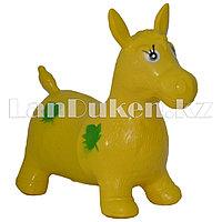 Резиновый ослик желтый (фитбол)