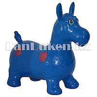 Резиновый ослик синий (фитбол)