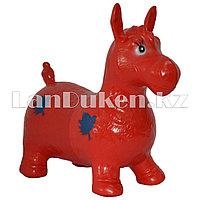 Резиновый ослик красный (фитбол)