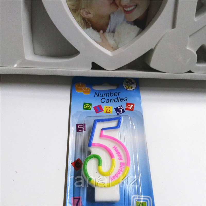 Свечи для торта  цифра 5