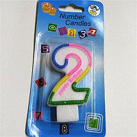Свечи для торта  цифра 2, фото 1