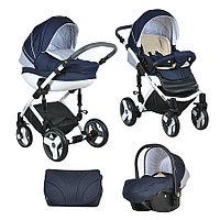 Коляска Tutis Zippy Mimi Plus Premium 3 в 1 темно-синий/белый/крап