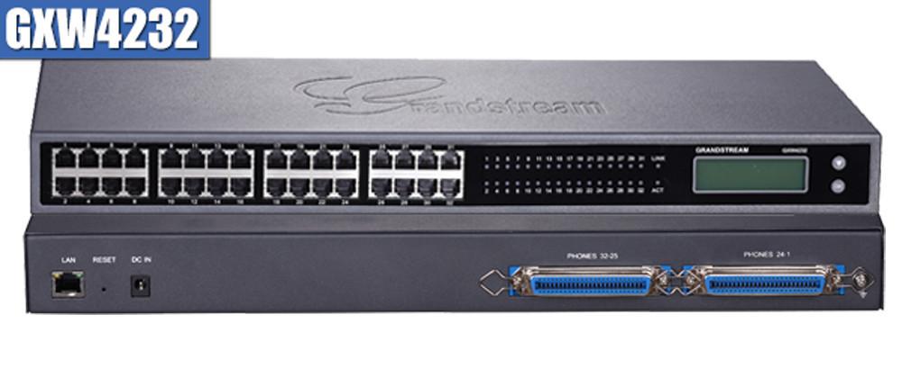 Grandstream GXW4232 IP шлюз 32xFXS, 1xLAN, (1GbE)Gigabit Ethernet