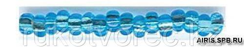 Бисер прозрачный с сереб. центр. 5/0 (67010), кв. отв., 50г Preciosa