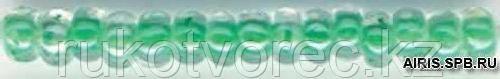 Бисер прозрачный с цветн. серед. 6/0 (38656), круг. отв., 50г Preciosa