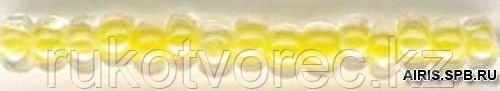 Бисер прозрачный с цветн. серед. 6/0 (38686), круг. отв., 50г Preciosa