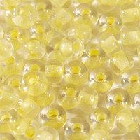 Бисер прозрачный с фосфорным центром 6/0 (68181), круг.отв., 50гр Preciosa