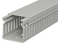 Кабель-канал перфорированный распределительный LK4 40x40x2000 мм (перфокороб) ПВХ, серый RAL7030 LK4 40040, фото 1