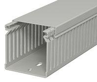 Кабель-канал перфорированный распределительный LK4 60x60x2000 мм (перфокороб) ПВХ, серый RAL7030 LK4 60060, фото 1