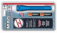 Фонарь MINI MAGLITE 2xAA (14 Lum)(с 2-мя батарейками и чехлом)(синий)(в блистере) R34354