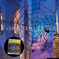 Декоративная паутина для Хэллоуина черная d 2.4м