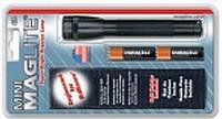 Фонарь MINI MAGLITE 2xAA (14 Lum)(с 2-мя батарейками и чехлом)(черный)(в блистере) R34329