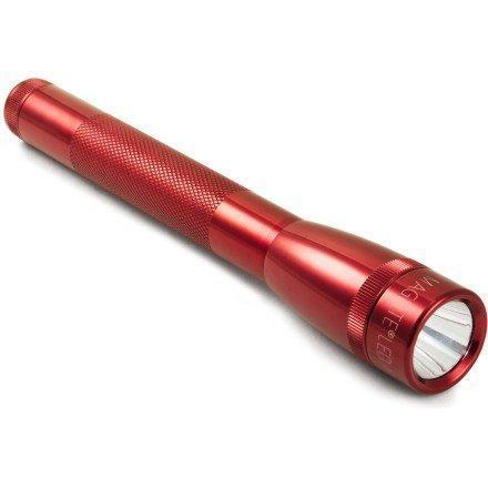 Фонарь MINI MAGLITE LED PRO+ 2xAA (245 Lum)(с 2-мя батарейками и чехлом)(красный)(в блистере) R 34641