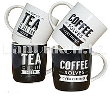 Подарочный набор из 4 керамических кружек для чая и кофе