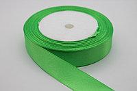 Лента атласная (зелёная 052) 20 мм. - 25 ярдов (22,8 метра)