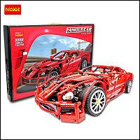"""Детский конструктор DECOOL 3333 """"Famous Car"""" Ferrari 599 GTB Fiorano, фото 1"""