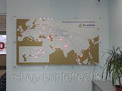 Карта городов светодиодная