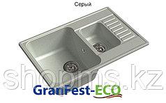 GranFest-QUARZ (ECO-21К) Мойка 1,5 чаш+кр740*480 (серый)