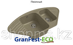 GranFest- QUARZ Мойка ECO-14 угл. 1,5 чаш 930*500 (песок)***