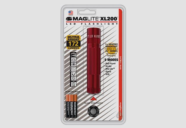 Фонарь MAGLITE LED XL200 3xAAA (172 Lum) (4737cd)(138м)(2ч30м/218ч)(красный)(в блистере) R34331