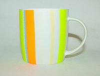 Кружка, зелено-оранжевая, керамическая