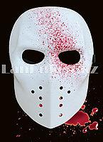 Маска хоккейная с брызгами крови на Хэллоуин