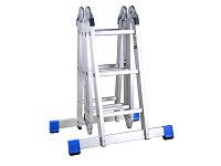 Лестница-трансформер алюминиевая с платформой Зубр Эксперт (4х3 ступени)