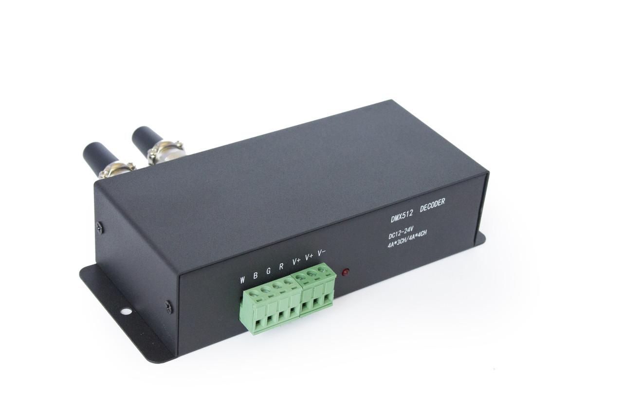 Контроллер 144W-12V-DMX-RGB decoder 4A*3CH