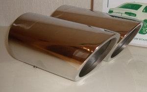 Насадка на глушитель Passat B6,B7,CC (Угол среза насадки 45 градусов)